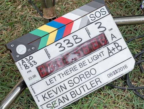 Let There Be Light - BTS clapper board