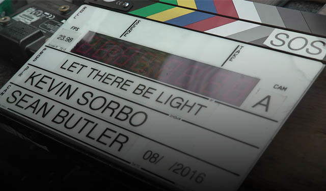 Let There Be Light - button BG clapper board