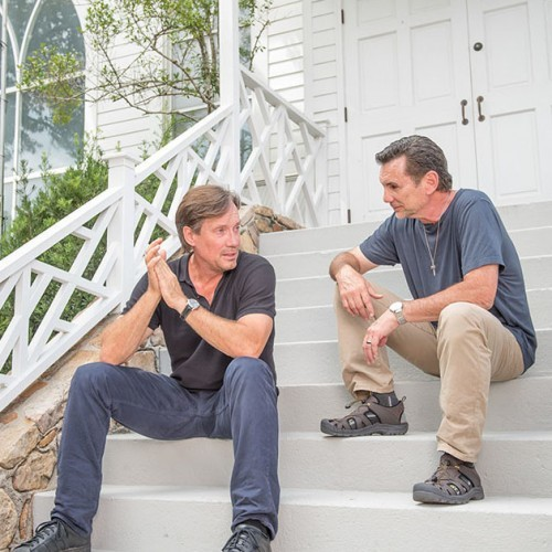 Let There Be Light - Kevin Sorbo and Michael Franzese talking on church steps