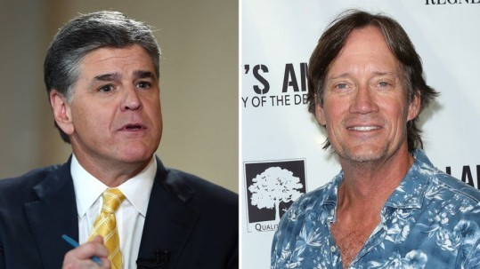 Sean Hannity and Kevin Sorbo